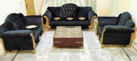 Beautiful 6 seater Blue Valvit sofa with 10 Years Master Molty Foam