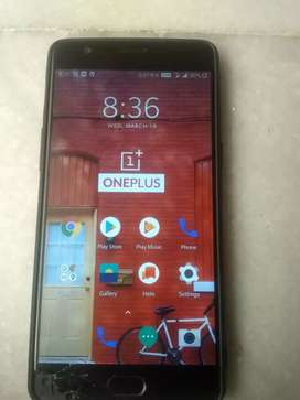 One plus 3T for sale Display Broken