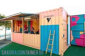 Box container - container booth cafe - container kedai - container