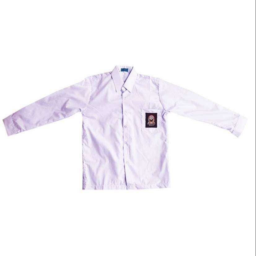 Baju sekolah SMP putih lengan panjang 0
