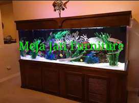 Meja Aquarium bifet minimalis jumbo C548 kayu jati
