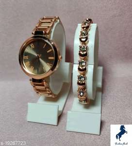 Catalog Name:*Stylish Women Watches* Strap Material: Metal Display