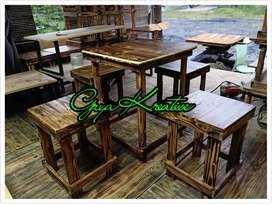 Set Meja Kursi Cafe (1 meja + 4 kursi)