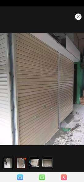 Rolling door lebar 2.6 meter tinggi 3m++ 2 set