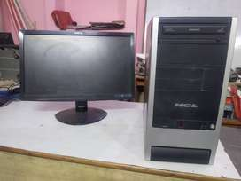 HP DUAL CORE CPU WITH MONITOR