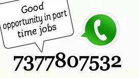 Good opportunity in part time jobs