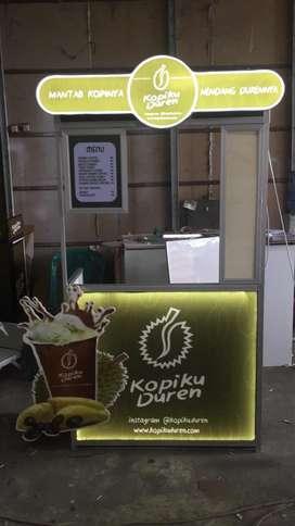 booth portable plus paket perlengkapan usaha