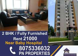 2 bhk fully furnished branded flat for rent near stadium junction