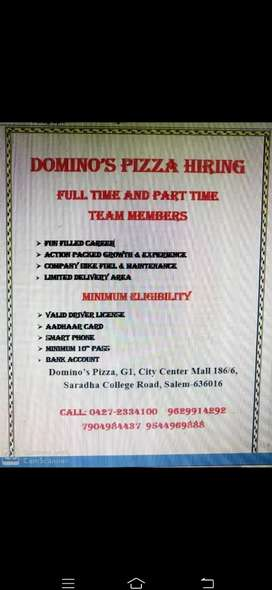 Domino's Pizza Hiring Delivery Boys