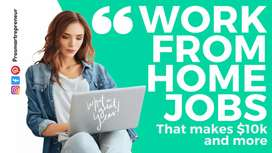 Work from home based jobs