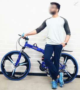 BM Foldable Cycle with 21 Speed Gears and Anti-Rust Paint
