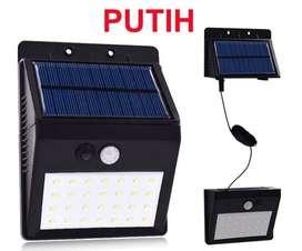 Lampu Solar Motion Sensor Light 28 LED Waterproof - Putih