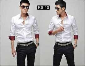 kemeja putih comby style korean