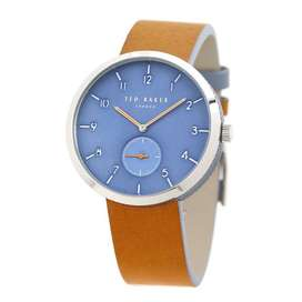 Ted Baker Male 'Josh' Stainless Steel Quartz Watch with Leather Strap