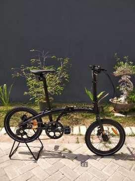 Sepeda lipat Seli Element Bosque 8 Bosque Hitam Baru Murah