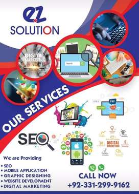 Website development,Mobile application,Digital marketing,logo desiging