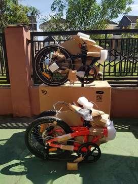Sepeda Lipat Ecosmo Bosque Baim 8 Speed (2 pilihan warna)