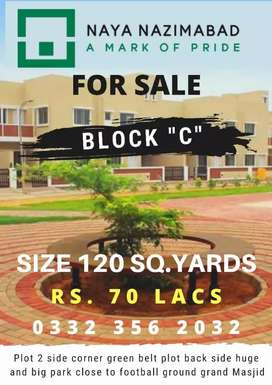 Naya Nazimabad Plot for Sale 120 sq.yards near Masjid