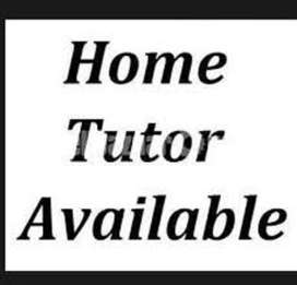 home tutor available for G & F sector