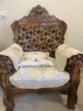 8 seater sofa in carving