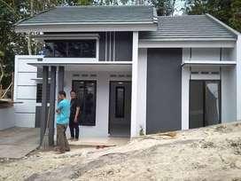 Rumah area jogja modern 1 lantai semi 2 lantai