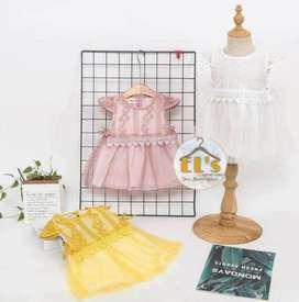 Dress Anak Cewek Impor (brukat)