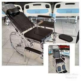 Kursi roda 3in1 selonjor kaki bab tiduran lansia