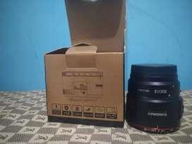 Lensa youngnuo 55mm + adapter untuk miroles