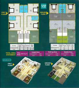 Under construction 3 bhk raw house available in lohegaon