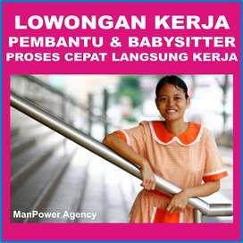 Lowongan Kerja PRT/ART & BabySitter Langsung Kerja