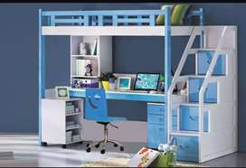 Excellent quality, complete wooden, bunk bed study table cupboards