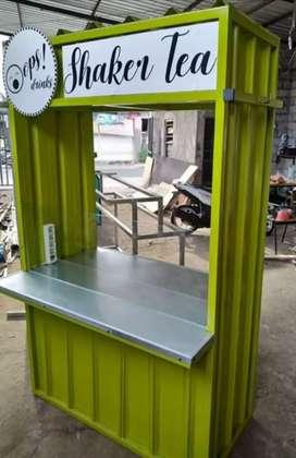 DIBUAT BARU! Booth, Booth container, gerobak dagang, gerobak jualan