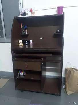 Computer + laptop table + u can put printer on top