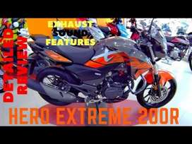 Hero xtreme 200r orange grey