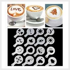 16set Cetakan Kopi Coffee Model Barista Safiramedia Onlineshop