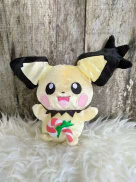 Boneka Pokemon Pichu Christmas Banpresto Original