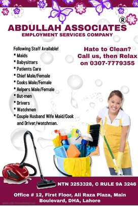 Miads, Babysitter, Patient Care, Chef and Driver Available on one call