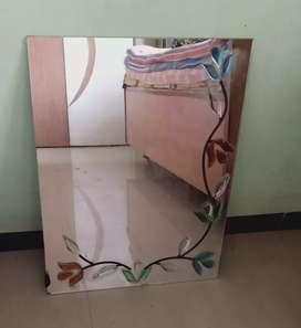 Mirror Flowerish Designer printed decorative Royal wall mirror