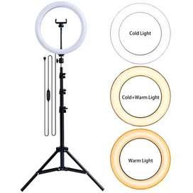 PAKET KOMPLIT RINGLIGHT 26CM + TRIPOD 2,1 METER MAKE UP VLOG LAMPU