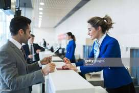 Hiring For Ground Staff for International And Domestic Airport