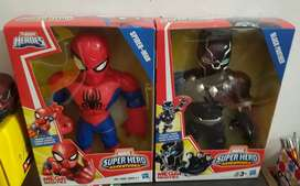 Paketan Figure Original Hasbro PlaySkool Spiderman dan Black Panther