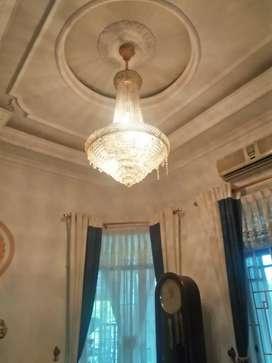 Lampu kristal  tinggi +/- 130cm  diameter +/- 90cm