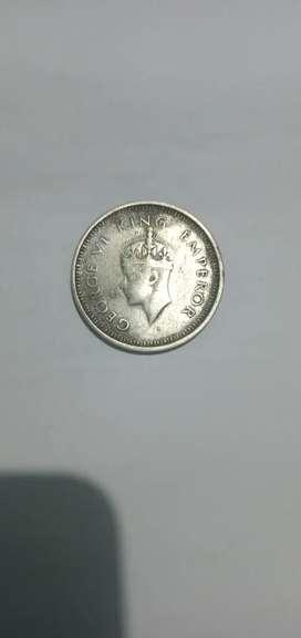 Old 1 Rupee Coin 1942 ( GEORGE V I KING EMPEROR)