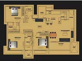 3bhk super built up 1558 sq feet