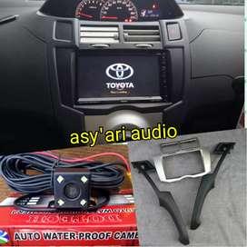Paket for yaris 2din tv + frame + kamera (asy'ari audio)
