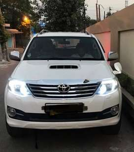 Modified LED front lights of fortuner