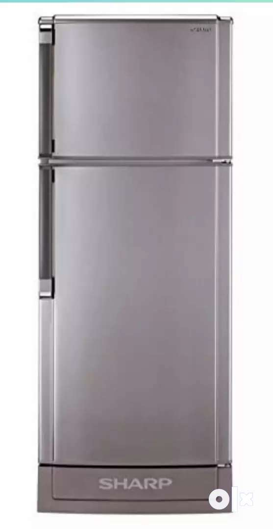 Urgent Sell-Good Condition-Double Door Refrigerator-Silver-3Star 0