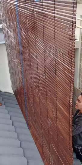 Tirai bambu kulit