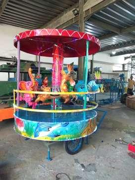 AGM mainan labirin bulat komedi putar panggung kereta mini coaster