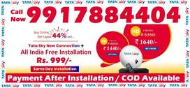 Tata Sky DTH Connection- Airtel Dish Airteltv Tatasky D2H TV-COD India